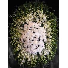 Ритуальный Венок из живых цветов ВЖ-63