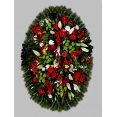 Ритуальный Венок из живых цветов ВЖ-64