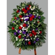 Ритуальный Венок из живых цветов ВЖ-65