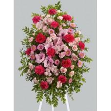 Ритуальный Венок из живых цветов ВЖ-66