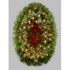 Ритуальный Венок из живых цветов ВЖ-68