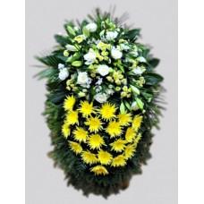 Ритуальный Венок из живых цветов ВЖ-69