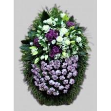 Ритуальный Венок из живых цветов ВЖ-72