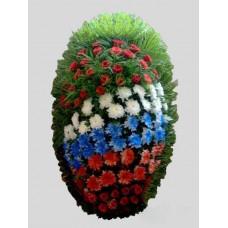 Ритуальный Венок из живых цветов ВЖ-75