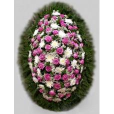 Ритуальный Венок из живых цветов ВЖ-78