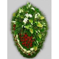 Ритуальный Венок из живых цветов ВЖ-80