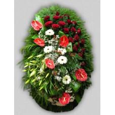 Ритуальный Венок из живых цветов ВЖ-81
