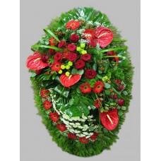 Ритуальный Венок из живых цветов ВЖ-82