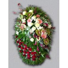 Ритуальный Венок из живых цветов ВЖ-83